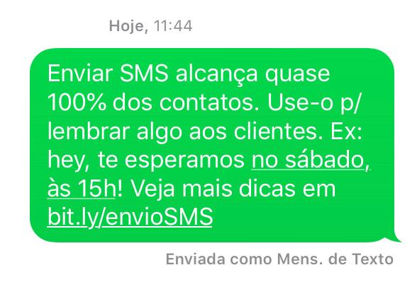 O envio de SMS para se comunicar diretamente com colaboradores, clientes ou possíveis consumidores foi uma das primeiras estratégias mobile criadas. Mesmo com o avanço das redes móveis de alta velocidade, o envio de SMS em massa segue muito atual