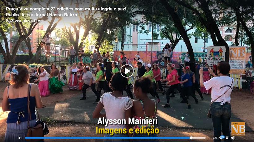Alysson Mainieri capta e edita vídeos para o Jornal Nosso Bairro